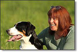 Beatrice Joa mit Hund